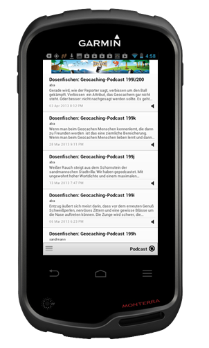 podcast-App im Monterra